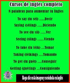 Spanish English, Spanish Words, English Phrases, English Study, English Class, How To Speak Spanish, English Lessons, English Grammar, English Language