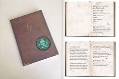 """""""A small book bound in brown leather"""" ~ Diana's commonplace book was a free online giveaway from us earlier this summer. It is also included in the ALL SOULS TRILOGY Box Set. It's the first item from Diana and Matthew's time walk. #TBOL"""