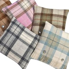 Check Shetland Wool Pillow Covers