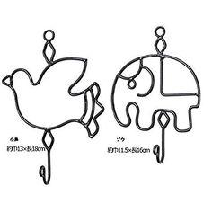 Amazon   『アイアンフック』:ゾウ 【フック 壁 壁掛け 壁掛けフック 鍵 ハンガー インド アジアン 雑貨 かわいい おしゃれ 飾り アンティーク】 ●サイズ:写真参照   ときいろインテリア   フック