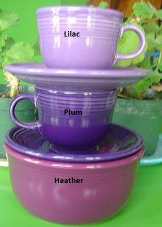 Fiesta® Purple Comparison
