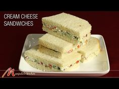 Cream Cheese Sandwiches - Manjula's Kitchen - Indian Vegetarian Recipes