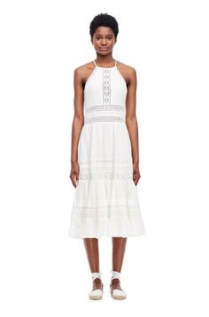 REBECCA TAYLOR Gauze Midi Dress - Milk. #rebeccataylor #cloth #all