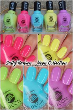 Want some ideas for wedding nail polish designs? This article is a collection of our favorite nail polish designs for your special day. Read for inspiration Neon Nail Polish, Wedding Nail Polish, Neon Nails, Nail Polish Designs, Gel Nail Art, Gel Manicure, Nail Polishes, Nail Design, Acrylic Nails