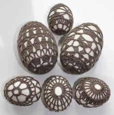Eieren omhaken   draadenpapier   Gratis patronen #haken #ei #pasen #crochet #egg #easter