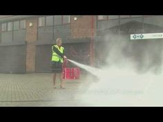 Fire Safety Training - How to Use a POWDER Fire Extinguisher