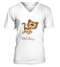 2e127650 Miau - V-Ausschnitt T-Shirt Unisex #Shirts #KatzeTShirt Unisex, Cute