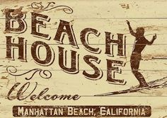 Beach House Custom Sign - so cool, you can get your choice of text in this design Beach House Signs, Beach Signs, Beach House Decor, How To Make Signs, Art Populaire, Lake Signs, Beach Bungalows, Lake Life, Coastal Decor