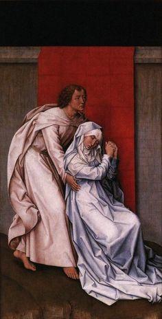 Rogier van der Weyden, Christ on the Cross with the Virgin and St. John, Diptych. 1460