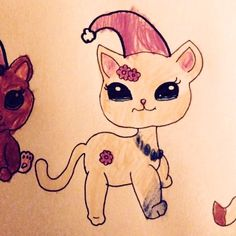 Littlest Pet Shop joulutonttu -värityskuva - Littlest Pet Shop Christmas Elf -colouring image - Miniatyyrian joulukalenterista - From the Miniatyyria Christmas calendar