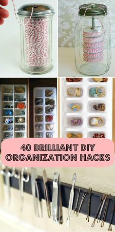 Brilliant DIY Organization Hacks 40 brilliant DIY organization hacks some really good ideas here.some we've already seen, some brilliant DIY organization hacks some really good ideas here.some we've already seen, some unique Organizing Hacks, Home Organization Hacks, Organising, Organizing School, Planner Organization, Diy Organizer, Home Hacks, Diy Hacks, Do It Yourself Organization