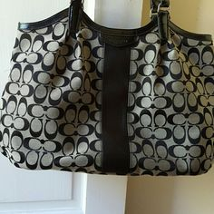 Coach bag This large bag has plenty of room!  19×11 not including the strap.  Gently used. Coach Bags Shoulder Bags