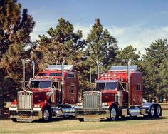 Peterbilt 379 and Kenworth W900
