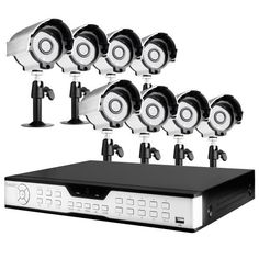 ZMODO 16CH CCTV Security Surveillance DVR System with 8 Sony CCD IR Weatherproof Outdoor Security Cameras -1TB Hard Drive by ZMODO. $388.99. Overview This kit includes a 16 CH H.264 DVR 1TB HD and 8 Sony Color CCD IR outdoor security cameras allowing you to monitor your home or office around the clock.   DVR Features * Plug-n-Play * Record: 480 fps * Display: 480 fps * Embedded Linux OS * IR Remote Control * PTZ via RS-485 Port * Signal System: NTSC / PAL * H.264 ...