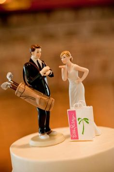 true southern cake topper...lilly and golf :)
