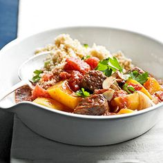 Beef stew w/ butternut squash. Chunks of butternut squash impart just a hint of sweetness to this homestyle stew. A dash of allspice adds an intriguing flavor. Slow Cooker Soup, Slow Cooker Recipes, Beef Recipes, Soup Recipes, Cooking Recipes, Healthy Recipes, Recipies, Cooking Beef, Quick Recipes