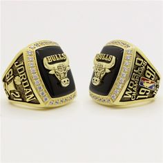 Custom 1991 Chicago Bulls Basketball World Championship Ring - Basketball Champs Rings - Customized