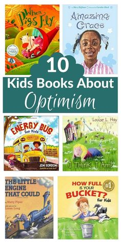 These books about optimism all talk about the power of positive thought and optimism through relatable stories. From classics like the Little Engine That Could and Alexander, to some others about overcoming challenges while staying positive Education Humor, Character Education, Kids Education, Character Trait, Character Development, Positive Self Talk, Positive Thoughts, Staying Positive, Quotes Positive