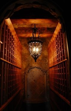 Awesome #wine cellar - but I really like the light fixture for just about anywhere in our #Arizona home.