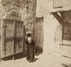 Shops close for Sabbath, Jerusalem 1900