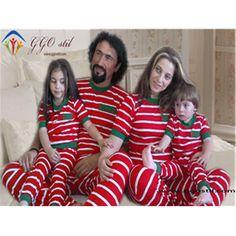 Aile Kombin-Kırmızı Çizgili Pijama Takımı - Çocuk