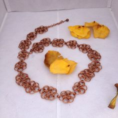 Copper Helms weave flower Necklace on Etsy, $30.00 CAD