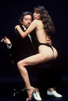 Serge Gainsbourg and Jane Birkin by Helmut Newton (1978)