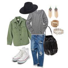 秋のスニーカーコーデ stylist:yuko denim white sneaker fringe grey knit fashion outfits coordinate ponte