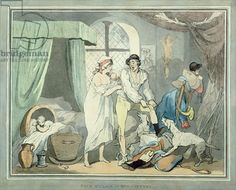 "Thomas Rowlandson 1756-1827 ""Four o'Clock in the Country"", pub. 1788 (coloured etching with aquatint)"