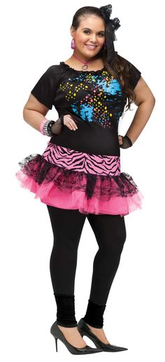 80's Pop Party Girl Plus Size Costume