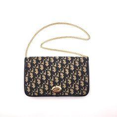 237454552789 Reserved for OD - Vintage Dior navy trotter shoulder bag