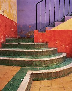 Colorful stairs in San Miguel de Allende