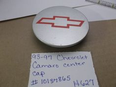 93-97 CHEVROLET CAMARO Wheel  Center  Cap 10137865 hubcap H627 #ChevroletGM