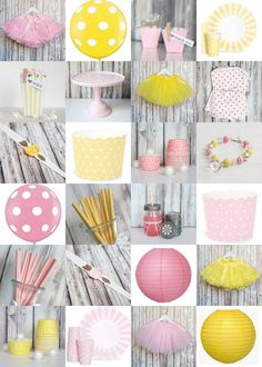 Pink + Yellow Party Supplies :: The TomKat Studio Shop shoptomkat.com