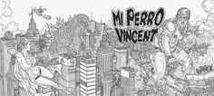 """Portada de Juan José RYP para el grupo #punk """"Mi perro Vincent"""" #ilustracion #comics"""