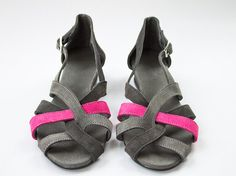 Leather Weave Sandals  Womens Shoes  Mini Wedge  Any by SHUNAMI, $65.00