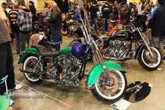 Striking paintwork on this Heritage at the 2014 Donnie Smith Bike & Car Show.
