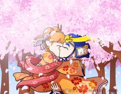 OTP Challenge - Day 5 - Cherry Blossoms by SaccharoKirby on DeviantArt