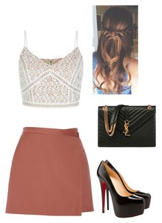 Untitled #743 by danielleguizio on Polyvore featuring Theory, Christian Louboutin and Yves Saint Laurent