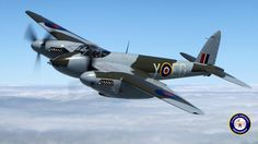 """zainisaari: """" De Havilland Mosquito, fast 2 engined light bomber, used for path finding for the larger bombers """" Ww2 Aircraft, Military Aircraft, De Havilland Comet, De Havilland Mosquito, Lancaster Bomber, Hawker Hurricane, Air Photo, Supermarine Spitfire, Aircraft Pictures"""