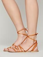 FP Collection Tan Harpoon Wrap Sandal at Free People Clothing Boutique