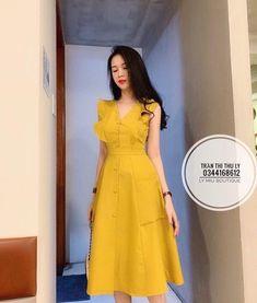 Modest Dresses, Simple Dresses, Cute Dresses, Beautiful Dresses, Casual Dresses, Ulzzang Fashion, Asian Fashion, Modest Fashion, Fashion Dresses