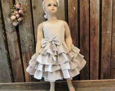 Niña vestido de flores vestido rústico boda por englaCharlottaShop