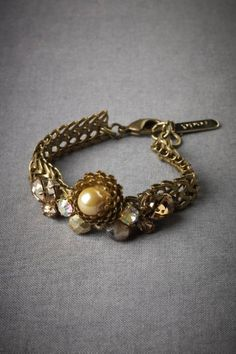 Baroque Geometry Bracelet. What a lovely wedding accessory.