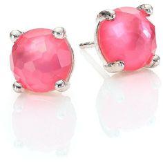 IPPOLITA Wonderland Mini Studs ($290) ❤ liked on Polyvore featuring jewelry, earrings, apparel & accessories, ippolita earrings, clear stud earrings, clear crystal jewelry, pink earrings and clear jewelry