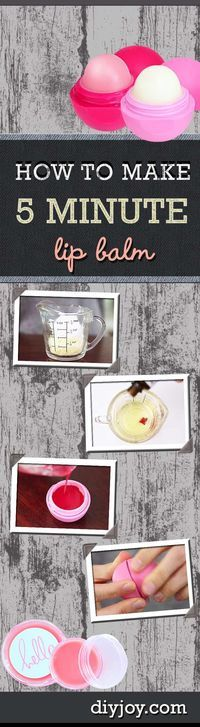 Cool DIY Ideas - How To Make Homemade Lip Balm - Recipe