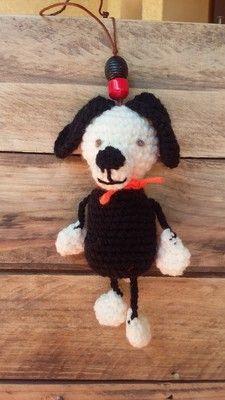 Dog, bag jewel, magnet, amigurumi Animaux et porte clés keychain - AmiguruMINE ! Mes Amigurumis crochet