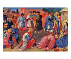 Adoration, Fra Angelico, Artist painter, digital giclee reproduction