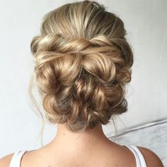 Back view of braided, twisted updo ~ we ❤ this! moncheribridals.com