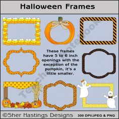 Halloween Frames product from Shers-Creative-Space on TeachersNotebook.com